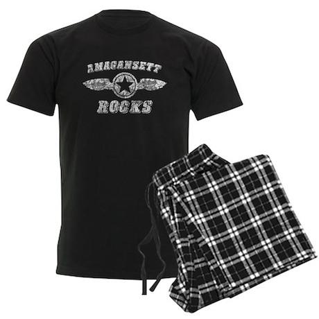AMAGANSETT ROCKS Men's Dark Pajamas