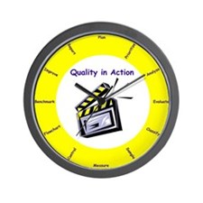 Quality in Action Wall Clock
