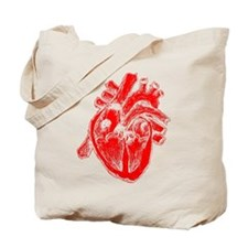 Human Heart Red Tote Bag