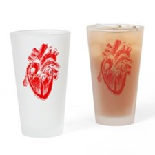 Human Heart Red Drinking Glass