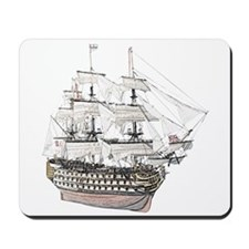 Classic Wooden Ship Sailboat Mousepad