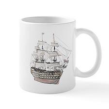 Classic Wooden Ship Sailboat Small Mug