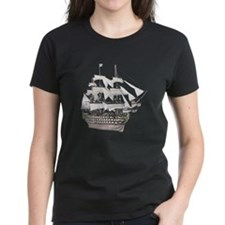 Classic Wooden Ship Sailboat Tee