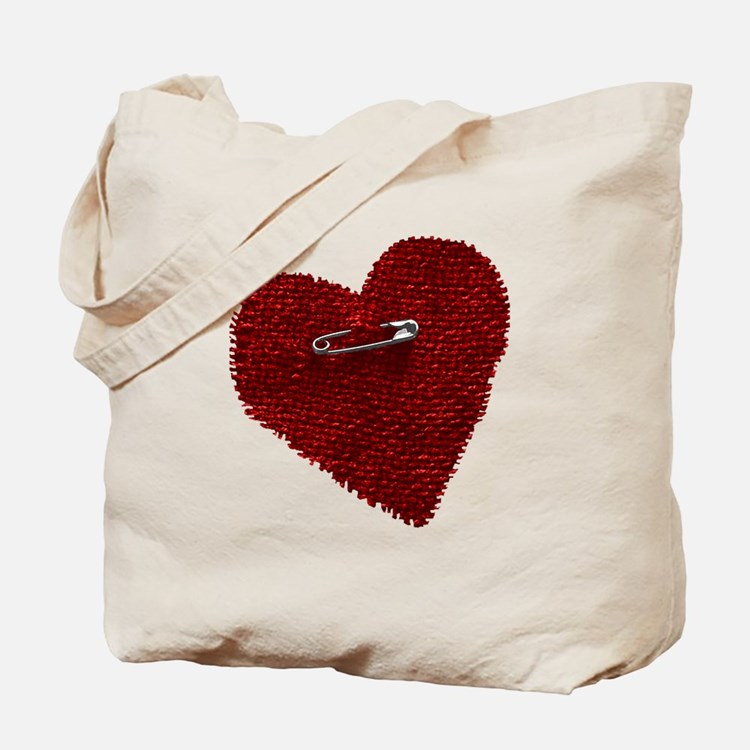 Pinned On Heart Tote Bag