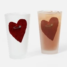 Pinned On Heart Drinking Glass