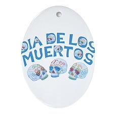 Dia De Los Muertos Ornament (Oval)