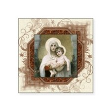 """Madonna of the Roses Square Sticker 3"""" x 3"""""""