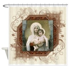 Madonna of the Roses Shower Curtain