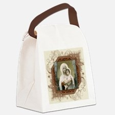 Madonna of the Roses Canvas Lunch Bag