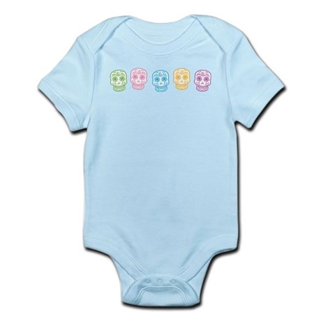 Colorful Sugar Skulls Infant Bodysuit