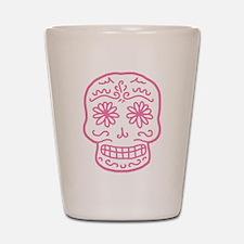 Pink Sugar Skull Shot Glass