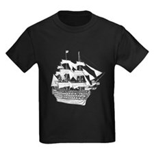 Classic Wooden Ship Sailboat T
