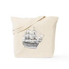 Classic Wooden Ship Sailboat Tote Bag