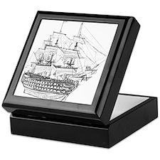Classic Wooden Ship Sailboat Keepsake Box