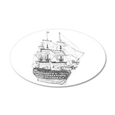 Classic Wooden Ship Sailboat Wall Decal
