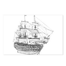 Classic Wooden Ship Sailboat Postcards (Package of