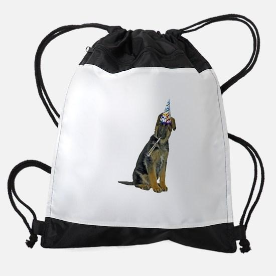 FIN-german-shepherd-party.png Drawstring Bag