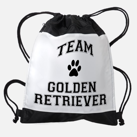 Team Golden Retriever Drawstring Bag