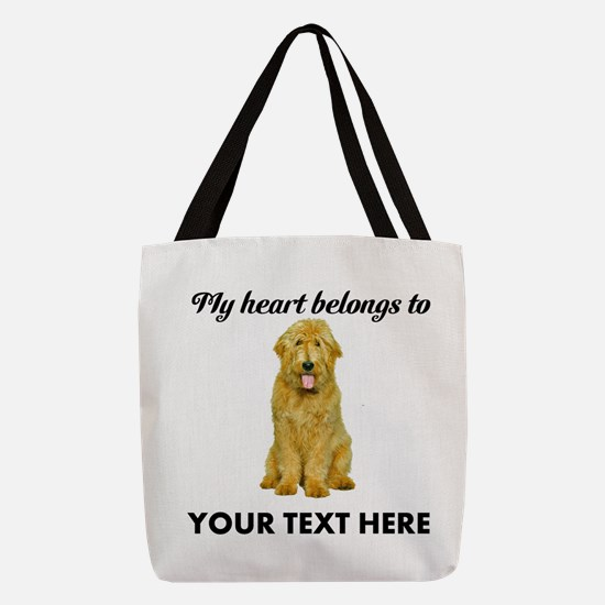Personalized Goldendoodle Polyester Tote Bag