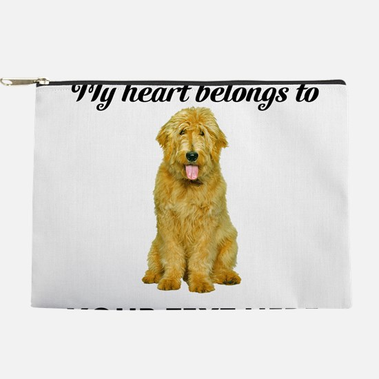 Personalized Goldendoodle Makeup Pouch