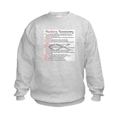 Phishing Taxonomy Kids Sweatshirt