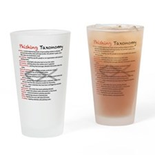 Phishing Taxonomy Drinking Glass