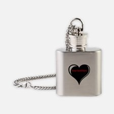 Customizable Heart Flask Necklace