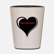 Customizable Heart Shot Glass