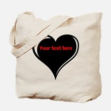 Customizable Heart Tote Bag