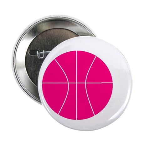 pink basketball Button