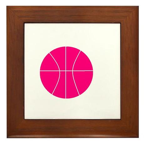pink basketball Framed Tile