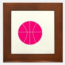 pink basketball Framed Tile