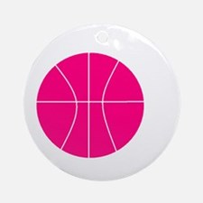 pink basketball Ornament (Round)