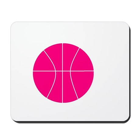 pink basketball Mousepad