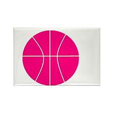 pink basketball Rectangle Magnet
