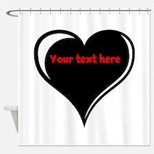 Customizable Heart Shower Curtain