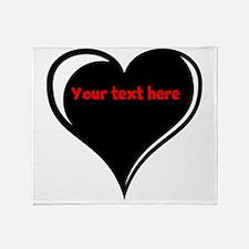 Customizable Heart Throw Blanket