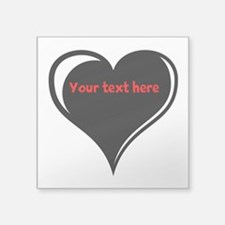 "Customizable Heart Square Sticker 3"" x 3"""
