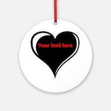 Customizable Heart Ornament (Round)
