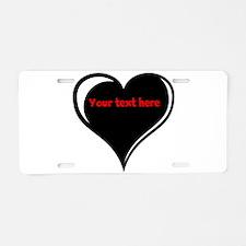 Customizable Heart Aluminum License Plate
