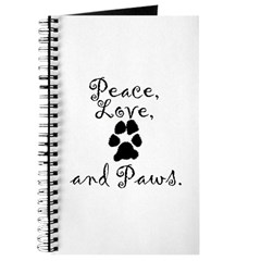 """""""Peace, Love, and Paws"""" Journal"""