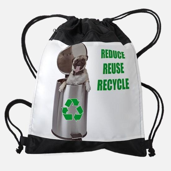 FIN-pug-recycle.png Drawstring Bag