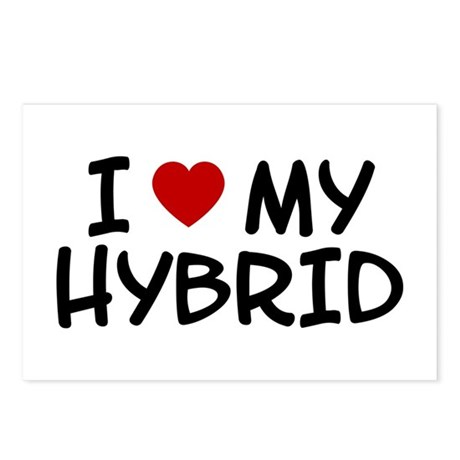 I Love My Hybrid Postcards (Package of 8)