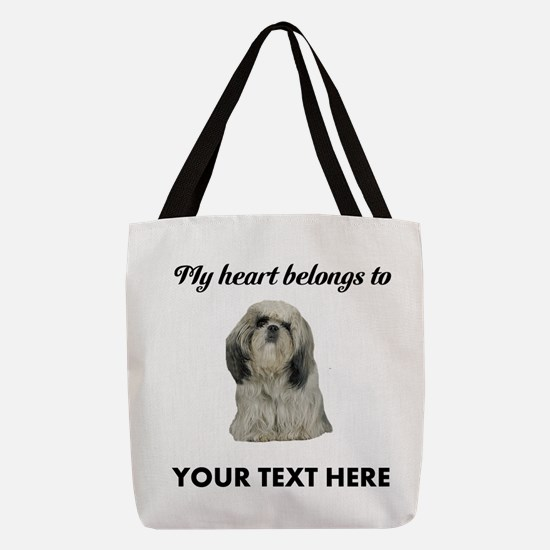 Personalized Shih Tzu Polyester Tote Bag