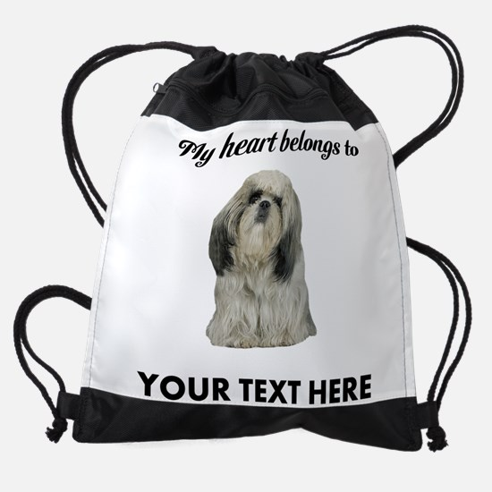 Personalized Shih Tzu Drawstring Bag