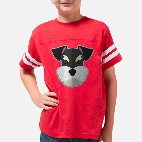 Cartoon Schnauzer Youth Football Shirt