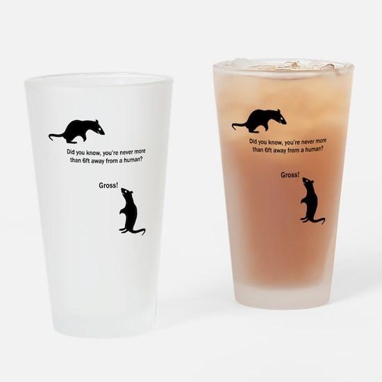 Pesky Humans! Drinking Glass