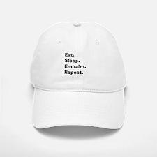 eat sleep embalm.PNG Baseball Baseball Cap