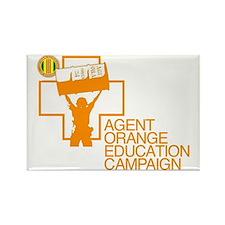 Agent Orange Education Rectangle Magnet (Pk of 10)