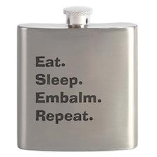 eat sleep embalm.PNG Flask